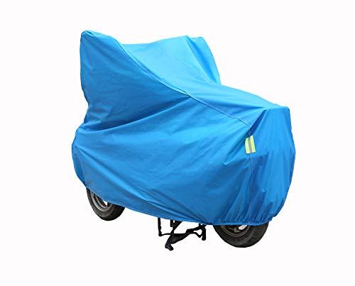 WGE Motorrad-Abdeckhaube, Sonnenschutz, Regenschutz, für 4 Jahreszeiten, Blau, S