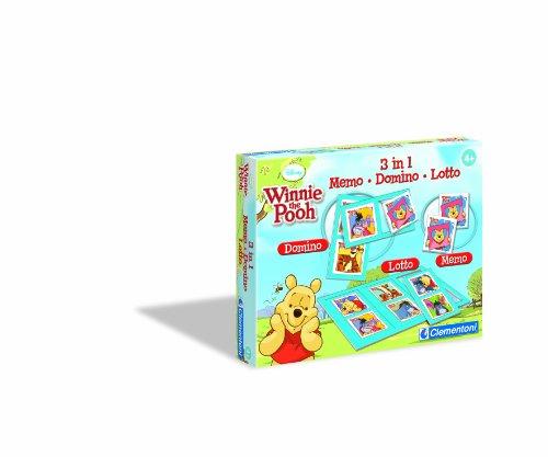Clementoni - 12832.7 - Jeux éducatifs et scientifiques Kit 3 in 1 Memo - Domino Loto Winnie