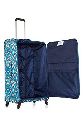 41bjE9EEnXL - Revelation Weightless D3J - 4 Wheel Large Pattern Blue 2.0kg Maleta, 77 cm, 88 liters, Azul (Pattern Blue)