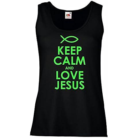Camisetas sin Mangas para Mujer Love Jesus regalos cristianos