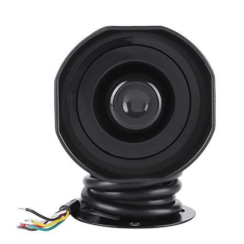 Horn Lautsprecher, DV12V Elektronische Notsirene Lautsprecher 110 dB Elektrischer Alarm Auto Sirene Fahrzeug Horn mit Regen/staubdicht/stoßfest IP65 (Schwarz)