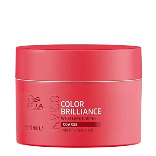 Wella Professionals Invigo Brilliance Vibrant Color Mask Coarse - Für dickes, kräftiges Haar, 150 ml