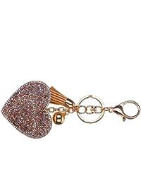 Republe Amour pendentif coeur Porte-clés Porte-clefs filles Conception  Tassel cristal Sac pendentif 23f5c84f719