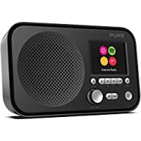 Pure Elan IR3 Portable Internet Radio with Spotify Connect, Alarm, Colour Screen, AUX Input, Headphones Output and 12 Station Presets – Wi-Fi Radio/Portable Radio - Black