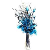 Amazon Es Flores Azules Artificiales Flores Plantas Y Flores