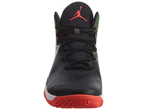 Nike - Jordan Super.fly 3, - Uomo Black/Light Green Spark/White/Infrared