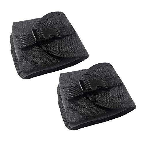 MagiDeal 2 Stücke - Tauchen Bleigürtel Taschen Tauchgürtel Bleigurt Ersatz Gewicht Gürtel Tasche, Schwarz