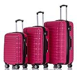 BEIBYE Zwillingsrollen 2088 Reisekoffer Koffer Trolleys Kofferset Reisekofferset Hartschale in
