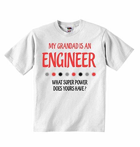 Il mio nonno è un tecnico quali super power tuoi sono?–t-shirt per bambini con scritta personalizzata tee abbigliamento unisex t-shirt–bianco–4–5anni