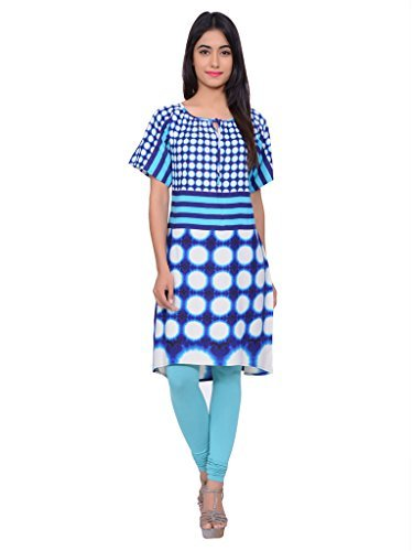 Juniper Women's A line Kurta (30497BLUE_Medium)