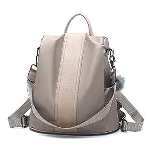 Woeita Mochila para mujer, Damas con estilo Mochila de nylon impermeable Bolsos escolares Antirrobo Casual Dayback Bolsas de hombro Mochila de viaje ligera
