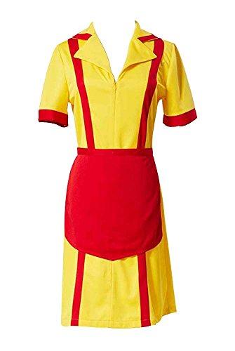 roline Dienstmädchen Diner Uniform mit Schürze Cosplay Kostüm M (2 Broke Girls Halloween-kostüme)