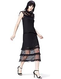 FIND Vestido Midi de Encaje Mujer