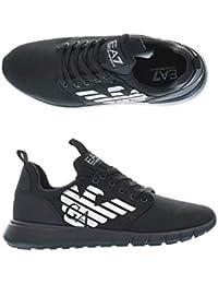 Emporio Armani Scarpe Sneaker Ea7 Ecopelle Black da Uomo RIF. X8x008 Xk008  00002 368ebee3b70