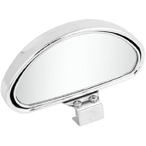 Color Plateado Chasis En Forma De Arco ángulo ajustable espejo de punto ciego para coche
