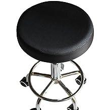 VORCOOL 33 cm taburete asiento cojín cubierta de algodón grueso elástico taburete redondo silla cubierta protectora