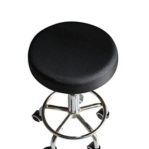 VORCOOL 33 cm Funda para taburete asiento cojín cubierta de algodón grueso elástico taburete redondo...
