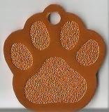 Hundemarken mit Gravur Hundemarke Tiermarke Adressanhänger Anhänger Hund Alu (Orange)