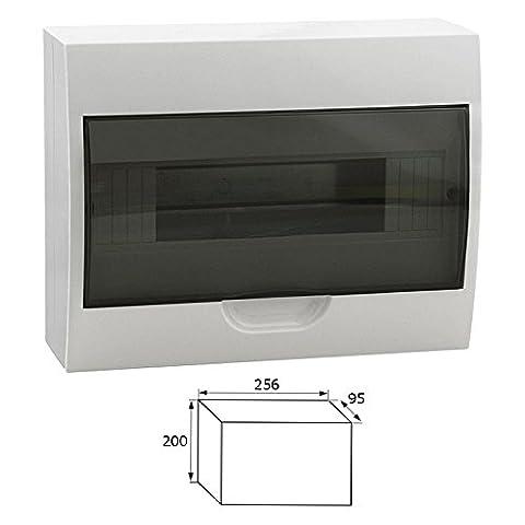 Sicherungskasten Kleinverteiler IP40 aufputz Unterverteilung 1-2 reihig 4,6,8,12,18,24,36 Module (12 Module /