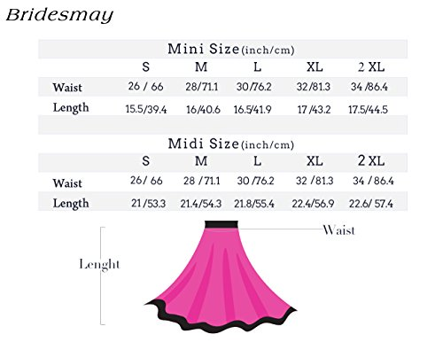 Bridesmay Damen Mini Rock Basic Solid vielseitige dehnbaren informell Minikleid Retro Sexy Rock Faltenrock Black-White
