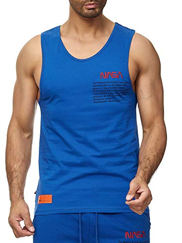 Red Bridge Herren Tank Top T-Shirt NASA Logo USA Ärmellos Baumwolle M1835 Saxeblau XXL