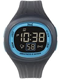 Everlast 33-502DG Unisex Digital Watch with LCD Dial Digital Display and Grey Plastic or PU Strap EV-502-104