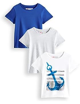 RED WAGON Camiseta Print Ancla Niños, Pack de 3