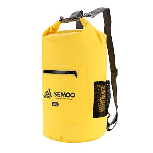 Semoo Bolsa estanca impermeable 20 litros, para deportes y playa (kaya
