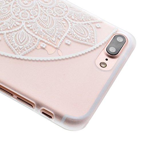 Voguecase® für Apple iPhone 7 4.7 hülle, Schutzhülle / Case / Cover / Hülle / TPU Gel Skin (Lace Blume) + Gratis Universal Eingabestift Durchstochen 04 links