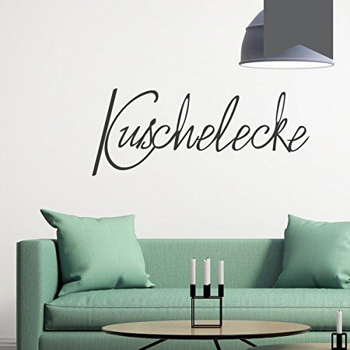 WANDKINGS Wandtattoo - Kuschelecke - 50 x 20 cm - Dunkelgrau - Wähle aus 5 Größen & 35 Farben