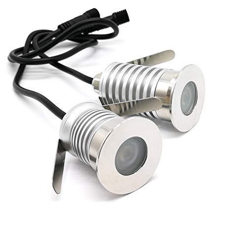 Plattform Separat Erhältlich (LED-Bodenbeleuchtungen, 1 W, 3 W CREE-Chip, DC12V-24V, IP67, wasserdichtes Aluminium und Edelstahl, unterirdische Lampen, Wegeleuchten Bodenbeleuchtungen für Außenbereiche (3))
