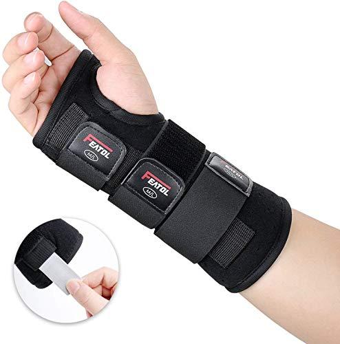 Featol Handgelenkstütze Einstellbar Handgelenkbandage, Schmerzlinderung und Stabilitäts Unterstützung Handgelenkschiene für,Arm Hand Support Für Verletzte,Behilflich für Männer und Frauen,Rechts,S/M
