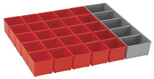 Bosch BOSCH org53-red Organizer Set für i-boxx53, Teil von Click und Go Mobile Transport System, 26-teilig, (Mobile Tray Speicher)