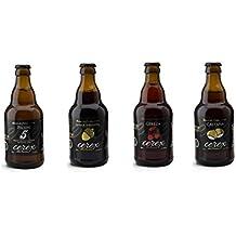 Pack Desgustación de 4 Cervezas Artesanas - Cerveza de Castaña, Cereza, Ibérica de Bellota