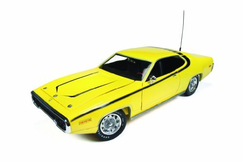 1971-plymouth-satellite-yellow-dukes-of-hazzard-1-18-by-autoworld-awss105