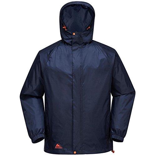 Cox Swain Herren Regenjacke NEVES - mit Kapuze, super leicht!, Colour: Navy/Orange Zipper, Size: L