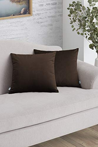 Easycosy - Pack Funda de Cojín Decorativo Luxury para Sofá - 45x45 - Tejido Terciopelo -...