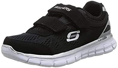 Skechers Synergy Power Strike, Chaussures de sports en salle garçon - Noir (Bkw), 28 EU (10.5 UK) (11.5 US)