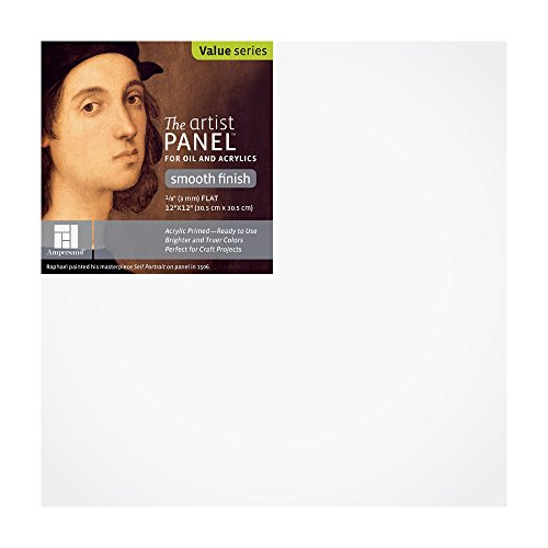 Artist Panel Smooth Finish Painting Panel Size: 12 H x 12 W by Ampersand