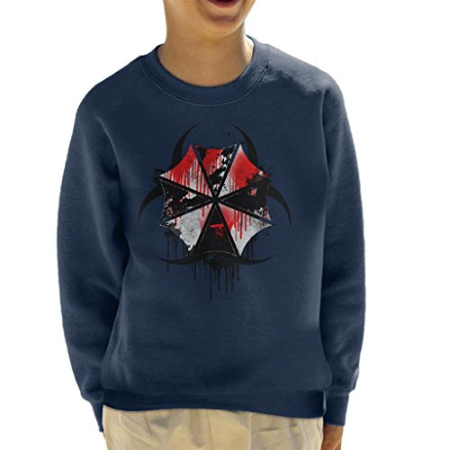 Resident Evil Umbrella Corp Blood Splatter Kid's Sweatshirt