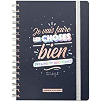 Mr Wonderful WOA09730FR Agenda Classique 2019-2020 Semainier - Je Vais Faire Les Choses Bien, Multicolore, Unique