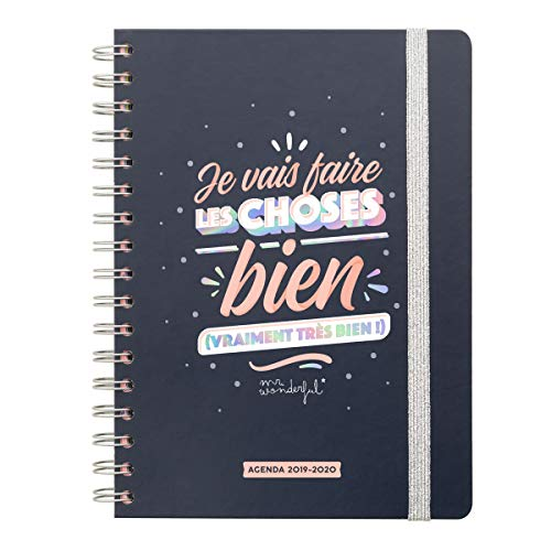 Calendario Julio 2019 Mr Wonderful.Mr Wonderful Woa09730fr Agenda Classique 2019 2020 Semainier Je Vais Faire Les Choses Bien Multicolore Unique