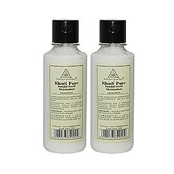 Khadi Pure Herbal Sandalwood Moisturizer - 210ml (Set of 2)