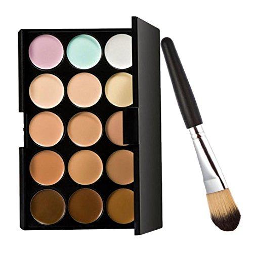 Internet 15 couleurs Crème Contour Maquillage Correcteur Palette + 1pc Brush