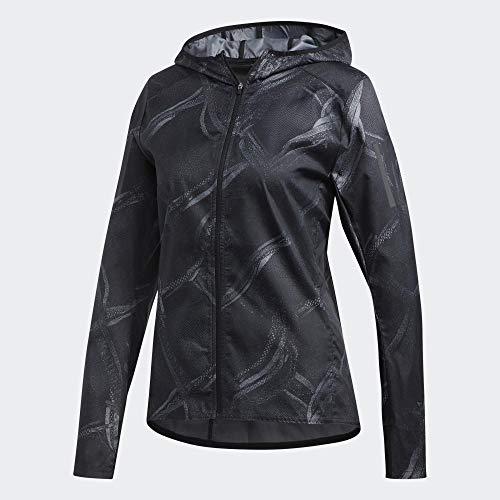 adidas Damen Own The Run JKT Weste, Gritre/Kohlenstoff/Schwarz, L