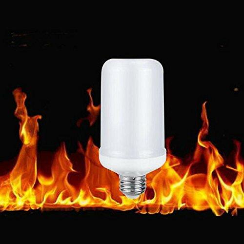 Hangang LED-Flamme Effekt Fire Glühlampen, Creative mit flackerndem Emulation Lampen, Simuliert Nature Fire in Antik Laterne Atmosphäre für Vintage Atmosphäre für Halloween Weihnachten, Urlaub - Dekorieren Halloween Ihr Wohnzimmer Sie