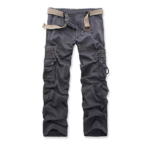 Ginli pantaloncini uomo/pantaloncini da uomo - pantaloncini casual da uomo- bermuda da uomo con tasche posteriori e laterali in stile cargo/palestra