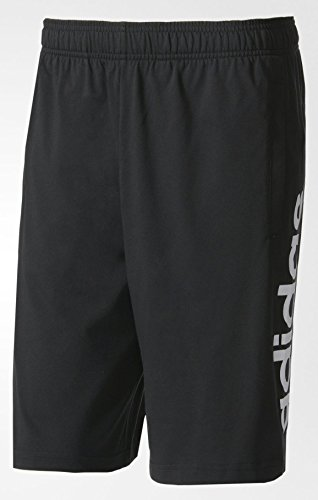 Adidas Ess Lin Shor SJ Pantaloni corti, uomo, UOMO, Ess Lin Shor Sj, negro (negro / blanco), XL