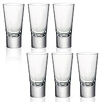 Bormioli Rocco Ypsilon Toughened 70ml Double Shot Glasses Vodka Shooter Drinking Glass