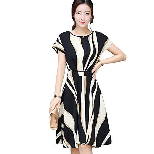 139c8e3a6f Women Midi Dress, Loose A -Line Summer Casual Dresses Short Sleeve Swing  Fashion Skirt